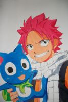 Never Alone - Natsu and Happy -colored- by SakakiTheMastermind