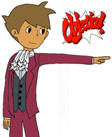 Clive...Edgeworth? -coloured- by kenabe