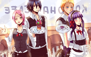 Konoha Cafe: SS and NH by Yuri-chan24