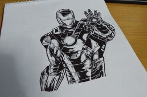 Commission: Iron Man sketch by abe70280