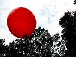 One Lonely Red Balloon. by girloclock