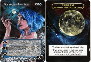 Magic Card Alteration: Tamiyo, the Moon Sage by Ondal-the-Fool