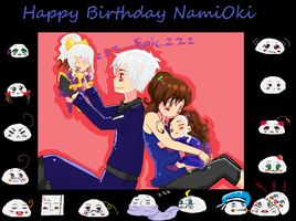 happy birthday NamiOki by moonlight206