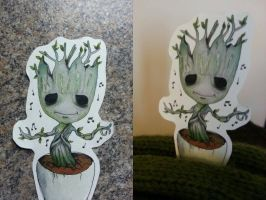 Chibi Groot as the Plant (Potted Groot) by as-obu