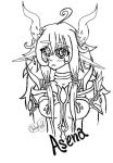 Asena Cute Adorible lines by 18-Wolfie-18