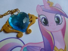 Princess Cadence Cutie Mark Necklace by Itsu-The-Raccoon