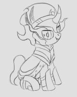 Shadowbox Sketch: Young Sombra by The-Paper-Pony