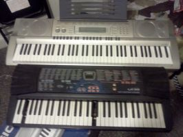 my Old and New Electric piano by Kyuubichowderfan