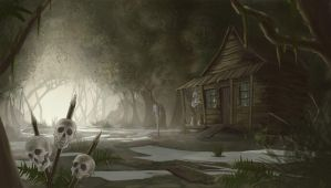 Voodoo hut by M-Whistler