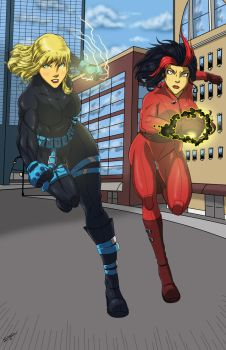 Rushing In Duo by Sean-Loco-ODonnell