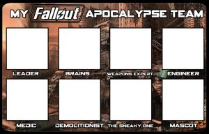 My Fallout Apocalypse Team Template by Archangel470