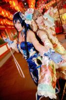 Love Live! - Awaken Qipao Umi x Kotori by Xeno-Photography