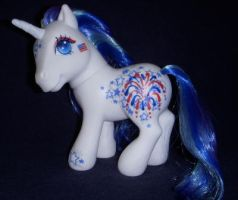 MLP Custom 'Freedom' Unicorn by colorscapesart