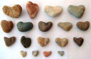 Heart-Shaped Rock Collection by Nevuela