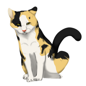 oh a calico cat by Ohdevinitely