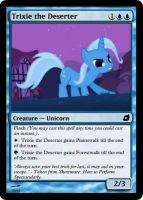 Trixie the Deserter - FiMtG by Kitonin