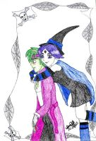 Beastboy and Raven Halloween by IsisConstantine