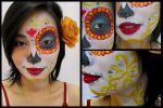 La Muerte - The Book of Life Makeup by blue-greentear