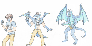 Dragon transformation~ by RaiinbowRaven