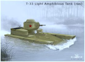 T-33 Light Amphibious Tank by dugazm