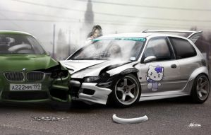 Crash Civic by Ayorius