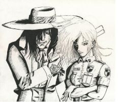 Alucard and Seras by Tom-the-Mighty