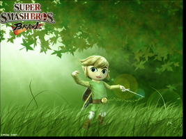 Toon Link Wall by CrowDSN
