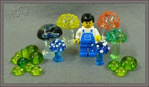 Glass Mushroom Farmer by AJGlass