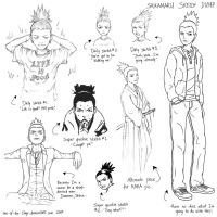 Sketch dump -- Shikamaru by one-of-the-Clayr