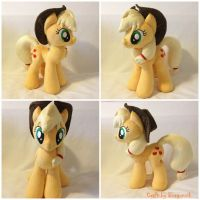 Applejack Plush Handmade Custom My Little Pony by RufousCat