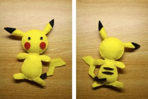 Pikachu Plush by PorcupineTreeHugger