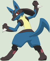 Pokemon Base 155~Lucario 5~ by Xbox-DS-Gameboy