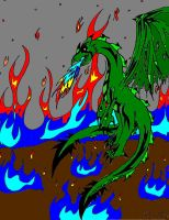 Demon Dragon Colored. wb by AirRider