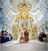 Wedding - Frauenkirche by Torsten-Hufsky