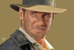 Indiana Jones - Harrison Ford by Unam-et-solum