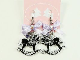Mirror Rocking Horse Earrings by SweetandCo
