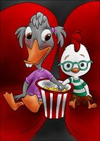 DC - Chicken Little and Abby (color) by vanillacoke-disney