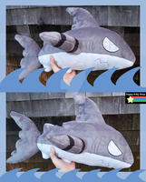 Samekichi Shark Form Plush by QueenBeePlush
