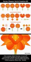 Vector Flowers Set Creation Kit by danfleites
