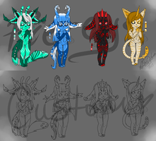 [Adoptables] Piercys by Lunashi-San