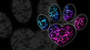Lace Heart Paw by PurinBicchi