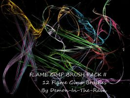 Flame-Glow Gimp Brushes-Set II by Demon-in-the-rain
