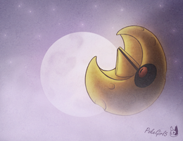 Foggy Moon by PokeGirl5