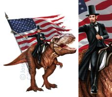 Lincoln and T-Rex by jocachi