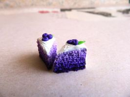 Purple Ombre Cake Charms by Xiiilucky13