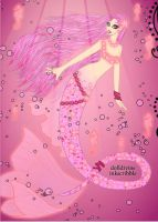 Pink Bubble Gum Mermaid by LadyIlona1984