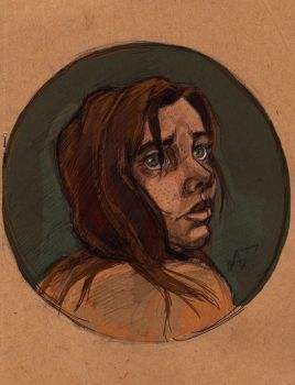 girl with big eyes by SwordDraconis