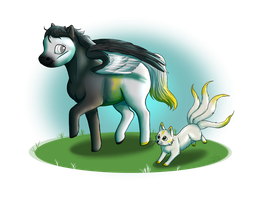 Playmates - Chibi Commission by Saerl
