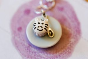 Zebra Tiny Mini Cupcake Necklace by MiniSinLove