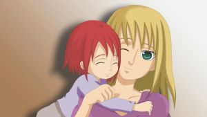 Yahizui: Happier times 2- with mama by Itygirl